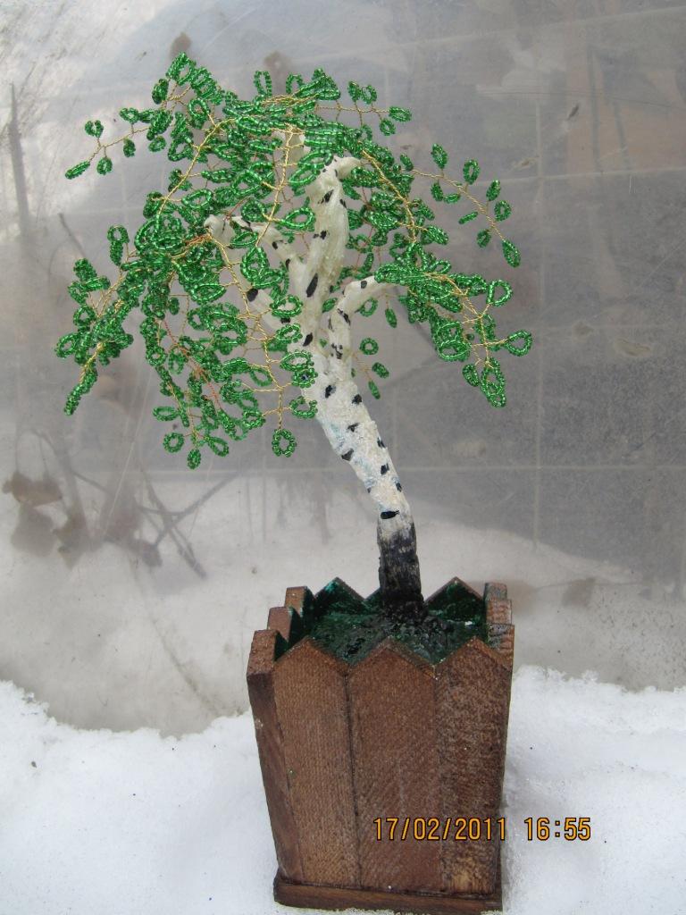 Эксклюзивные деревья из бисера!  - 1.