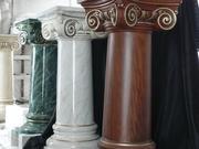 Колонны гипсовые,  декоративная роспись.