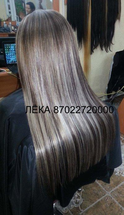 Наращивание волос два цвета