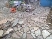 Укладка натурального камня (плитняка)