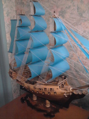 парусный корабль(модель)