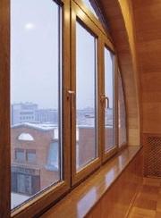 Алюмодеревянные окна в Алматы
