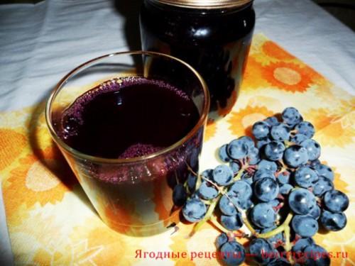Приготовление виноградного сока.