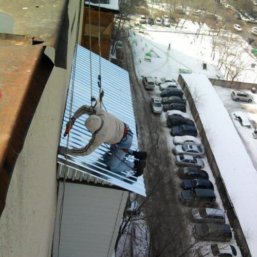 Ремонт ,  монтаж балконного козырька в Алматы.