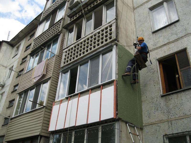 Наружное утепление балконов, облицовка балконов сайдингом - .