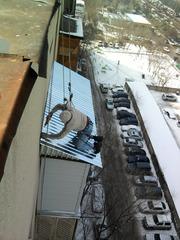 Профессиональная установка балконных козырьков. Самые низкие цены в Алматы!
