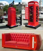 Красные телефонные будки из Англии