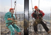 Промышленные альпинисты Алматы. Высотные работы в Алматы. Есть скидки!!!