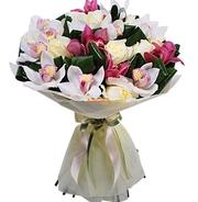 букет цветов с орхидеями срочная доставка по алматы заказ можно сделать по телефон