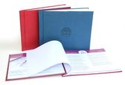 Изготовление каталога или презентации в твердом переплете в Алматы.
