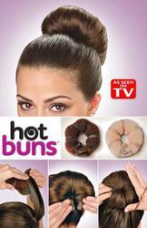 Заколка резинка валик для формирования дульки Hot buns код 23026