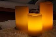 Набор из трех Лед свечей на пульте 46206