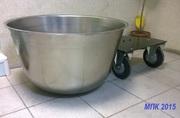 Дежи (Дежа 140 литров ) из нерж. стали ,  каретка сварная