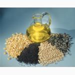 На экспорт подсолнечное,  пальмовое,  рапсовое,  соевое ,  кукурузное.