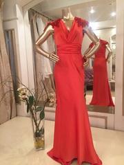 Атласное вечернее платье русалка