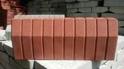 Поребрик садовый красный (большой)