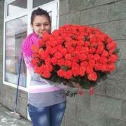 101 оранжевая роза 70 см