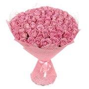 101 розовая роза 50 см