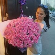 101 розовая роза 70 см