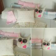 Бортики в кроватку,  комплект в манеж пошив под заказ