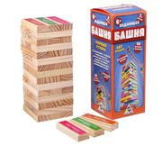 Настольная игра Дженга Падающая башня с заданиями 46809
