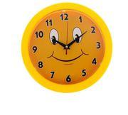 Часы настенные круглые Смайлик с цифрами циферблат 23х23 см 46814