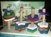 Деревянная игрушка фигурки на стойке 46840