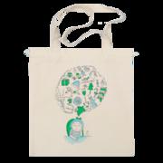 Сумка с принтом. Печать на сумке авоськи,  рисунка или надписи. Долгове