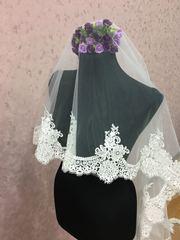 Свадебная фата с кружевом 270 см