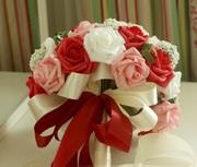 Свадебный букет с бутоньерками