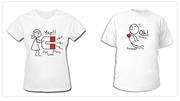 Нанесение на футболки рисунка красками. Печать на футболках крутых при