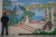 Художественная роспись стен Барельефы, Роспись стен Барельефы декоративная штукатурка, леонардо, шелк, внутрянняя отделка