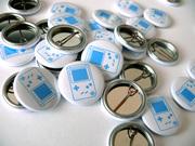 Закатные значки с логотипами. Печать Ваших логотипов для закатных знач