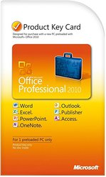 Microsoft office 2010 pro,  key kart