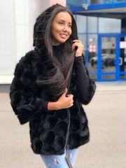 Вязанная норка импортный мех,  куртка Казахстан