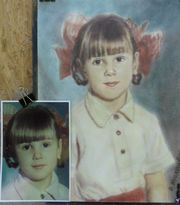 Портреты по фото в Алматы ручной работы живопись