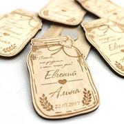 Деревянная резная открытка изготавливается из фанеры высоко качества.